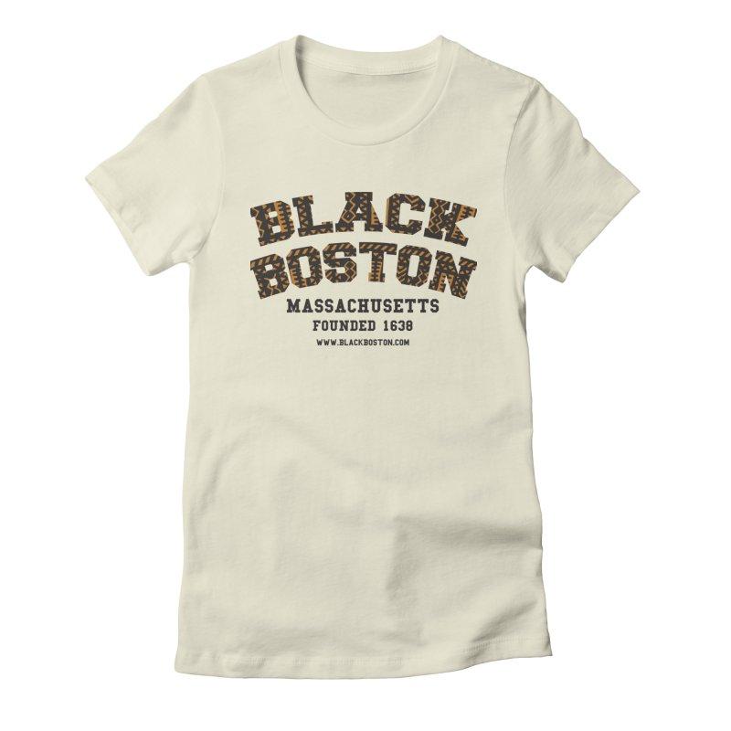Black Boston Classic 1638 Foundation T-Shirts Women's T-Shirt by Boston Black Heritage Classic  souvenir t-shirts a