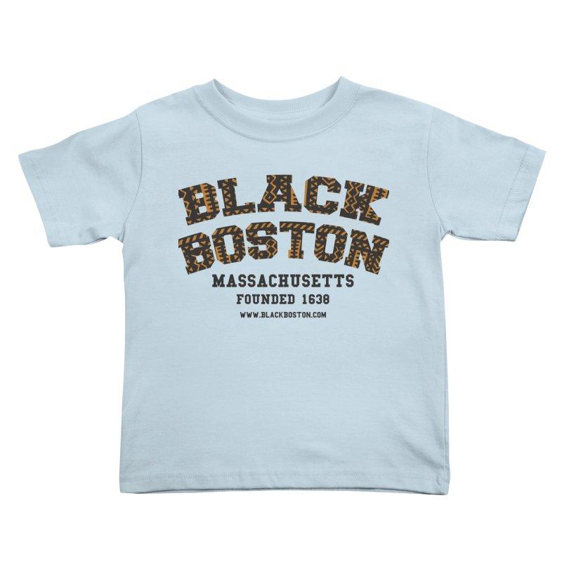 Black Boston Classic 1638 Foundation T-Shirts Kids Toddler T-Shirt by Boston Black Heritage Classic  souvenir t-shirts a