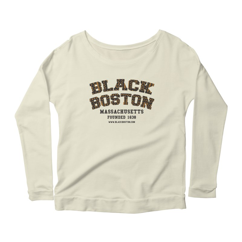 The Black Boston Classic foundational shirt catalog. Women's Longsleeve Scoopneck  by Shop.BlackBoston.com