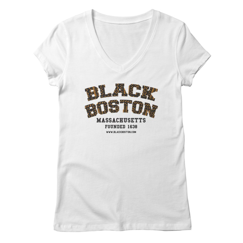 The Black Boston Classic foundational shirt catalog. Women's V-Neck by Shop.BlackBoston.com