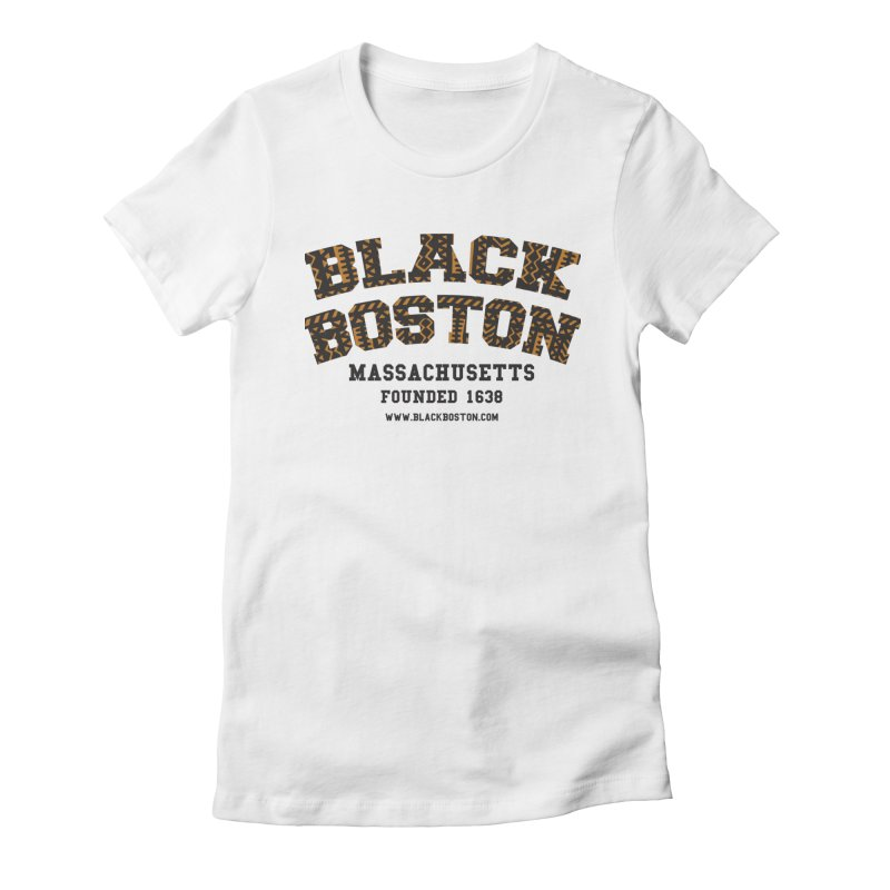 The Black Boston Classic foundational shirt catalog. in Women's Fitted T-Shirt White by Shop.BlackBoston.com