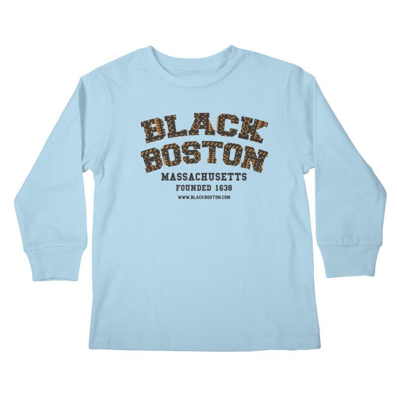 The Black Boston Classic foundational shirt catalog. Kids Longsleeve T-Shirt by Shop.BlackBoston.com