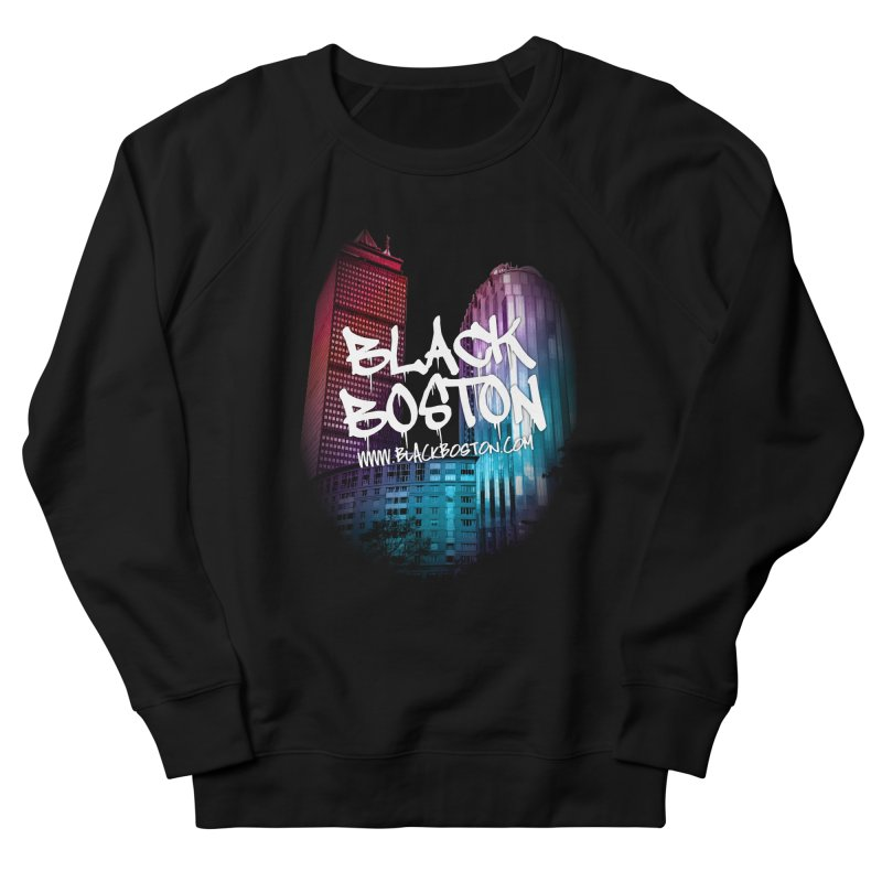 Black Boston Classic U Purple Men's French Terry Sweatshirt by Shop.BlackBoston.com