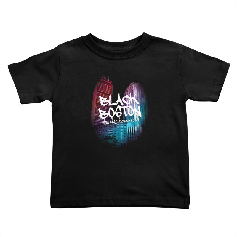 Black Boston Classic U Purple Kids Toddler T-Shirt by Shop.BlackBoston.com