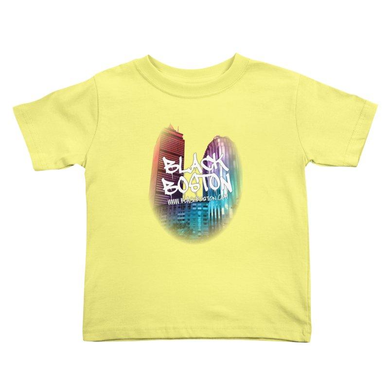 Black Boston Classic U Purple Kids Toddler T-Shirt by Shop.BlackBoston.com