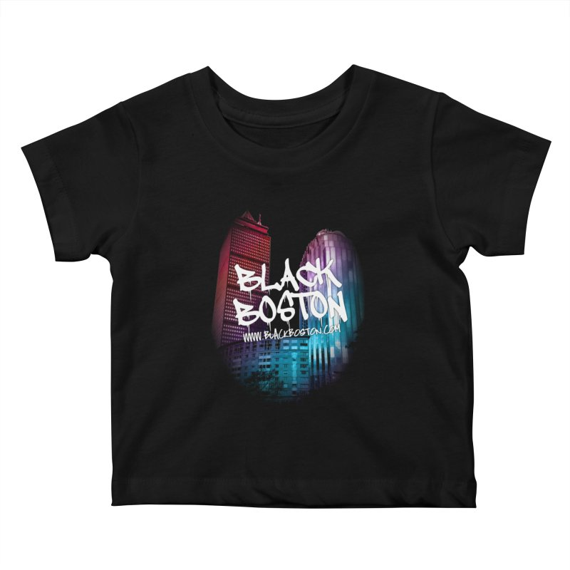 Black Boston Classic U Purple Kids Baby T-Shirt by Shop.BlackBoston.com
