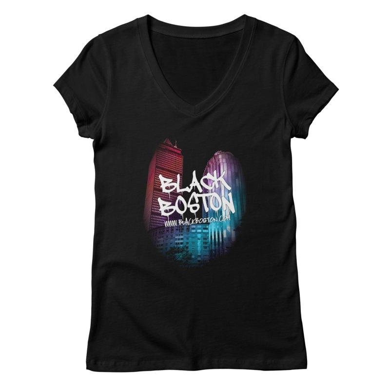 Black Boston souvenir I You style Women's V-Neck by Boston Black Heritage Classic  souvenir t-shirts a