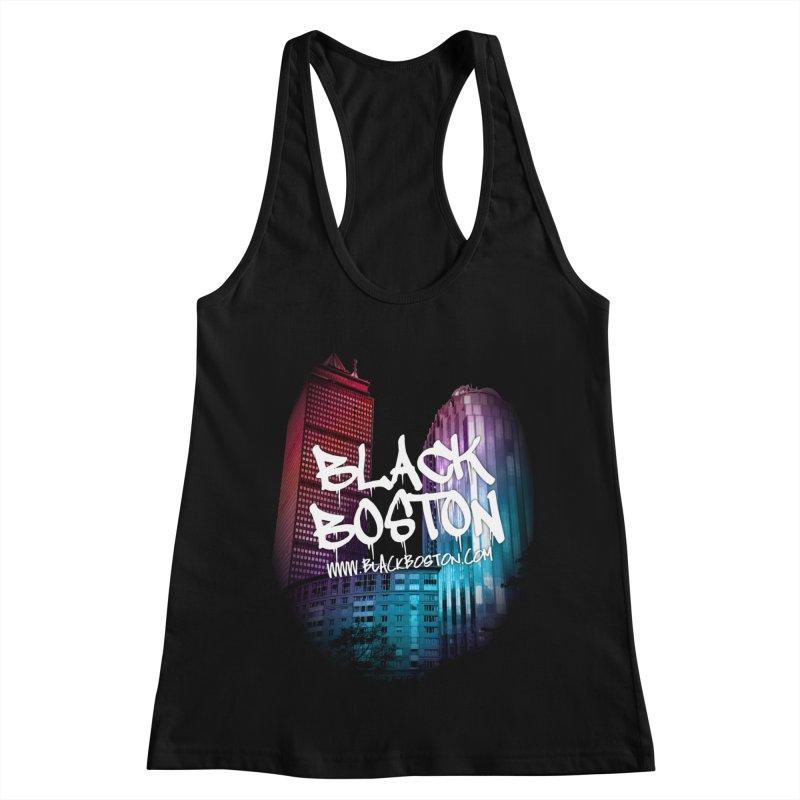 Black Boston Classic U Purple Women's Tank by Shop.BlackBoston.com