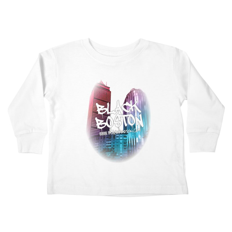 Black Boston Classic U Purple Kids Toddler Longsleeve T-Shirt by Shop.BlackBoston.com