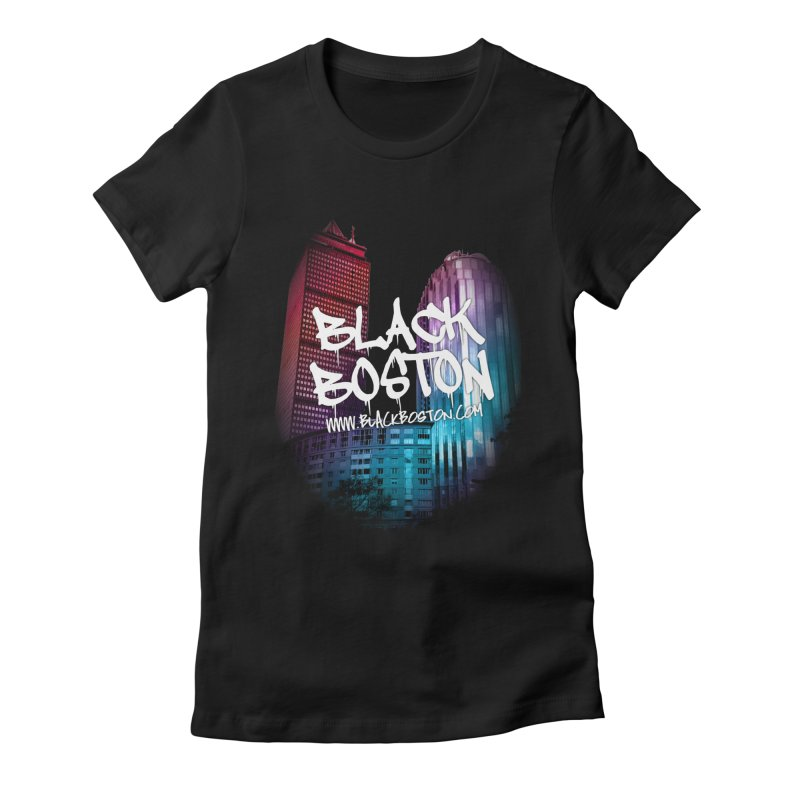 Black Boston Classic U Purple Women's Fitted T-Shirt by Shop.BlackBoston.com