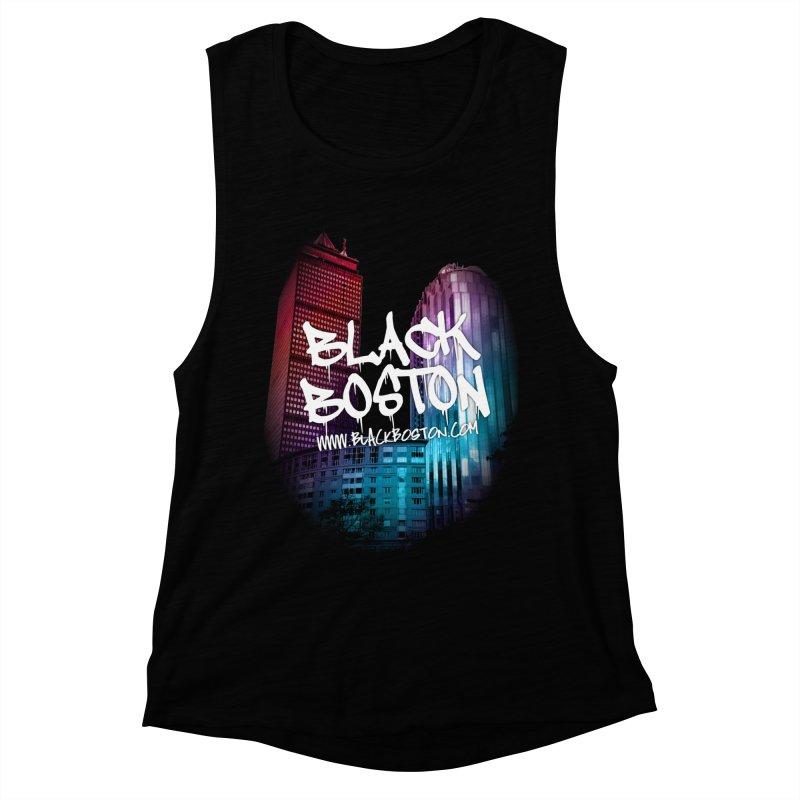 Black Boston Classic U Purple Women's Muscle Tank by Shop.BlackBoston.com