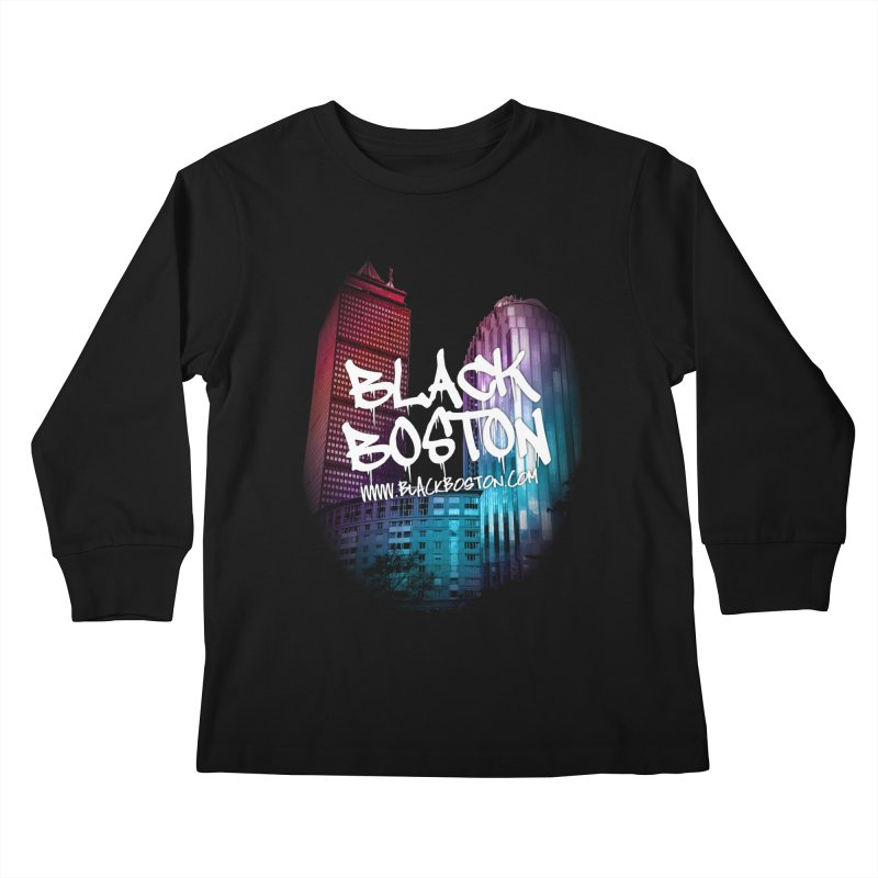 Black Boston Classic U Purple Kids Longsleeve T-Shirt by Shop.BlackBoston.com