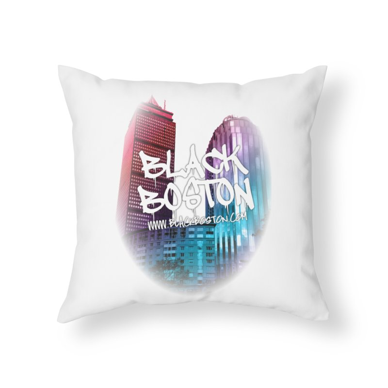 Black Boston Classic U Purple Home Throw Pillow by Shop.BlackBoston.com