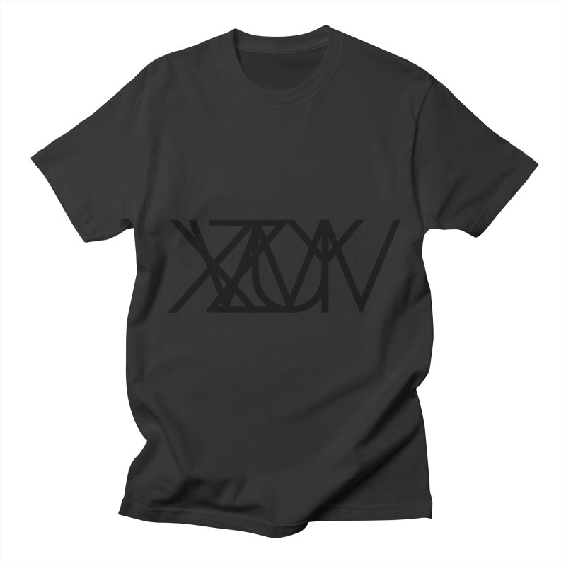 Tribute To Axis & Planes in Men's Regular T-Shirt Smoke by Black Text On Tee