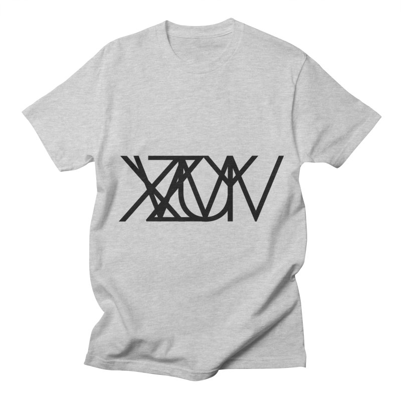 Tribute To Axis & Planes in Men's Regular T-Shirt Heather Grey by Black Text On Tee