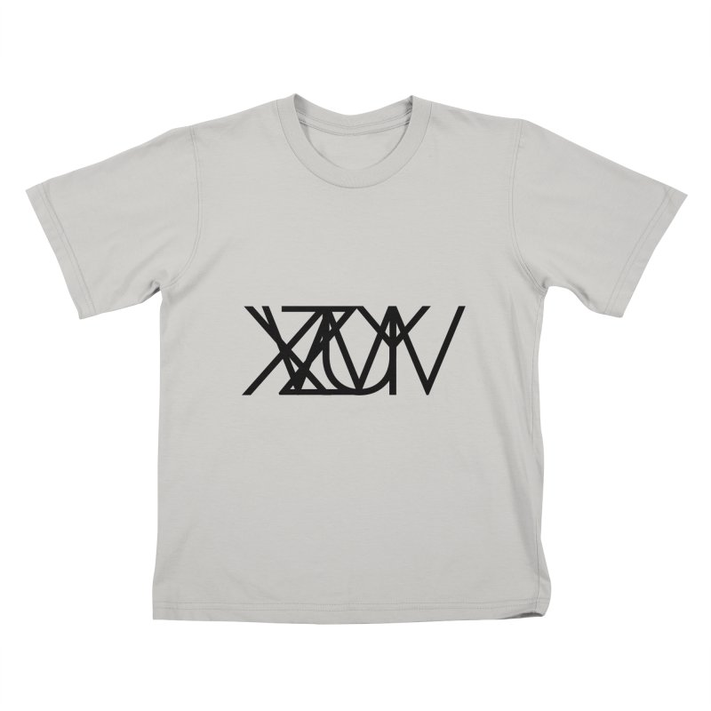Tribute To Axis & Planes in Kids T-Shirt Stone by Black Text On Tee