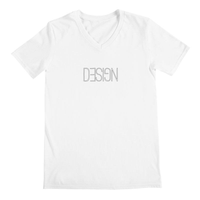 Men's None by Black Text On Tee