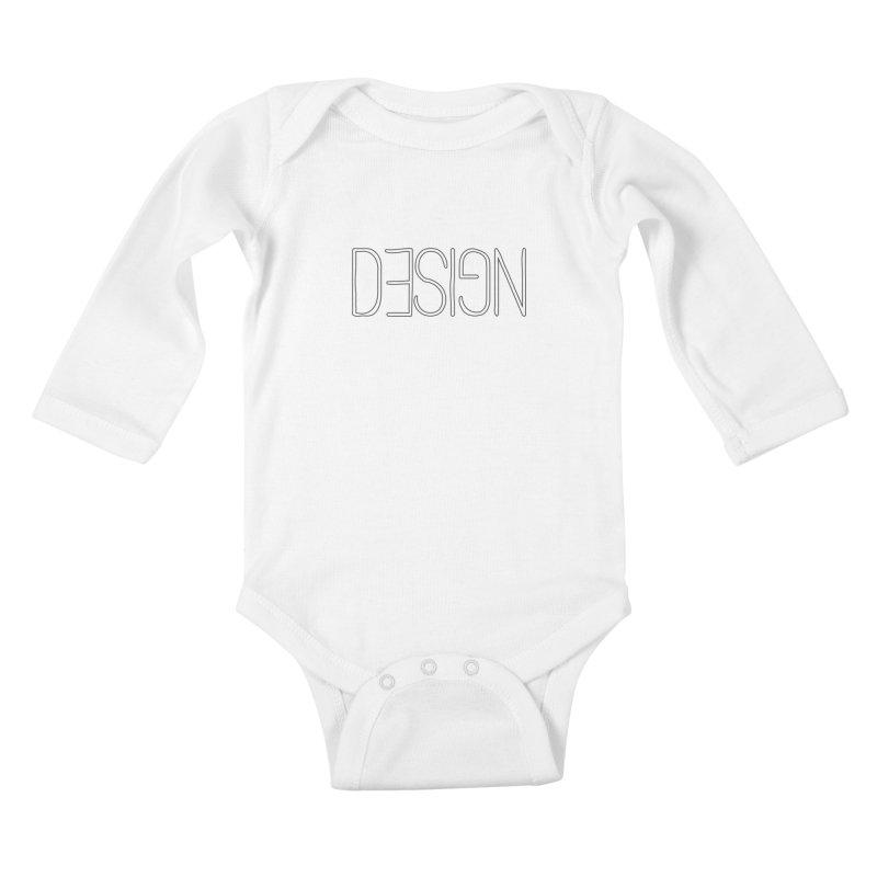 Dull (Design) Kids Baby Longsleeve Bodysuit by Black Text On Tee