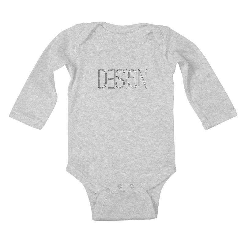 Dull (Design) Kids Baby Longsleeve Bodysuit by Black Text On Tee