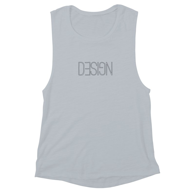 Dull (Design) Women's Muscle Tank by Black Text On Tee