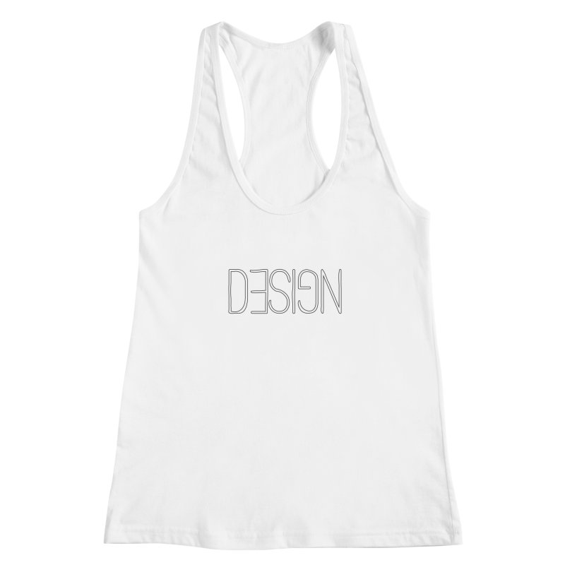 Dull (Design) Women's Racerback Tank by Black Text On Tee