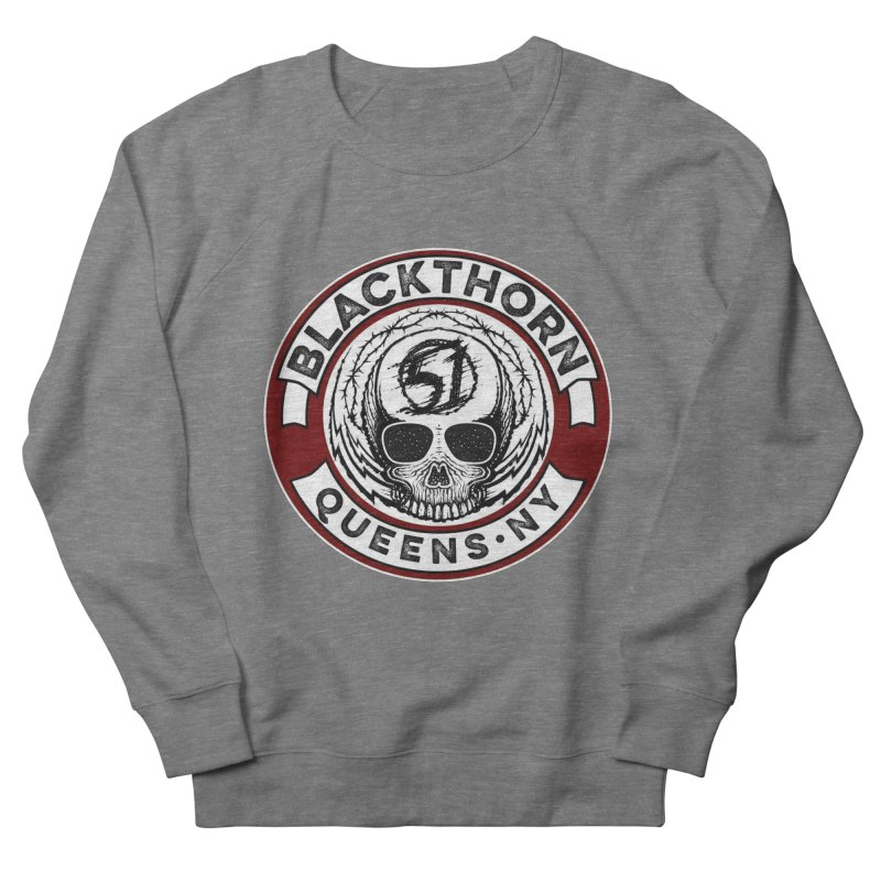 Blackthorn Barbwire Men's French Terry Sweatshirt by blackthorn51 Apparel