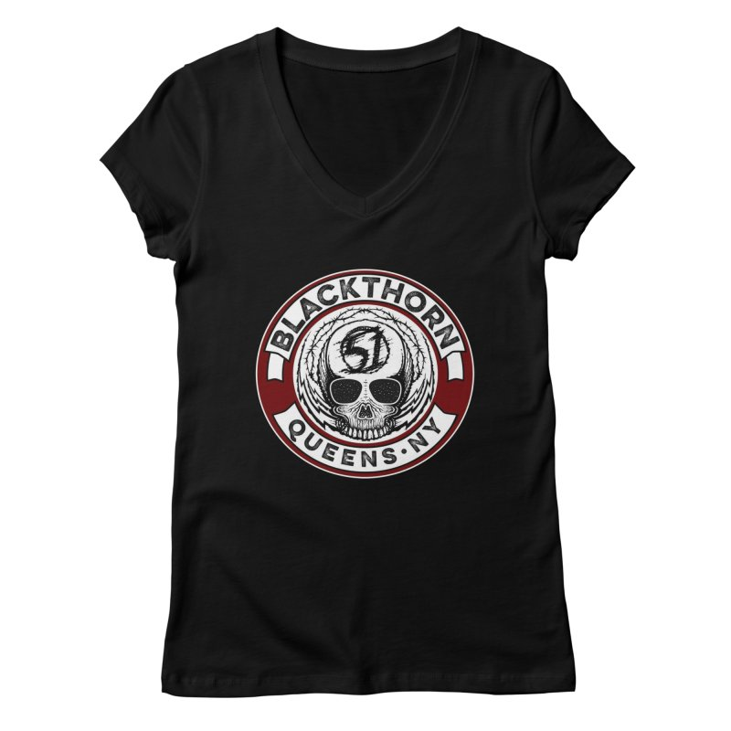 Blackthorn Barbwire Women's Regular V-Neck by blackthorn51 Apparel