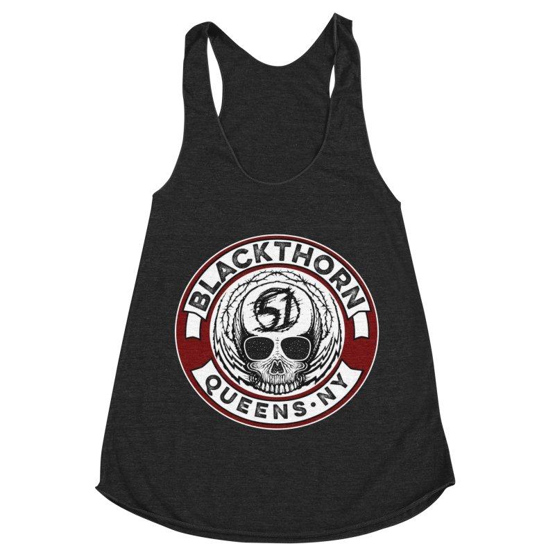 Blackthorn Barbwire Women's Racerback Triblend Tank by blackthorn51 Apparel