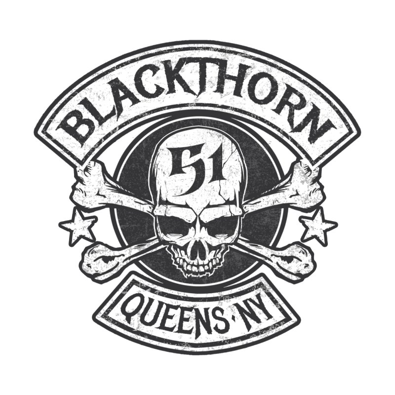 Blackthorn 51 Tee- Black/Grey Kids T-Shirt by blackthorn51 Apparel