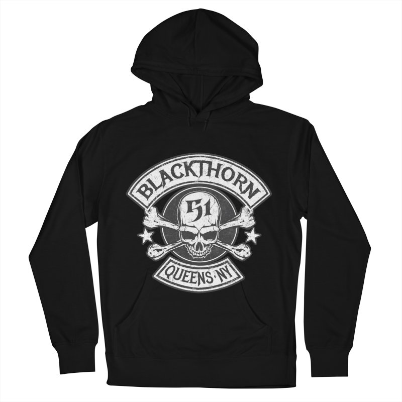 Blackthorn 51 Tee- Black/Grey Men's French Terry Pullover Hoody by blackthorn51 Apparel
