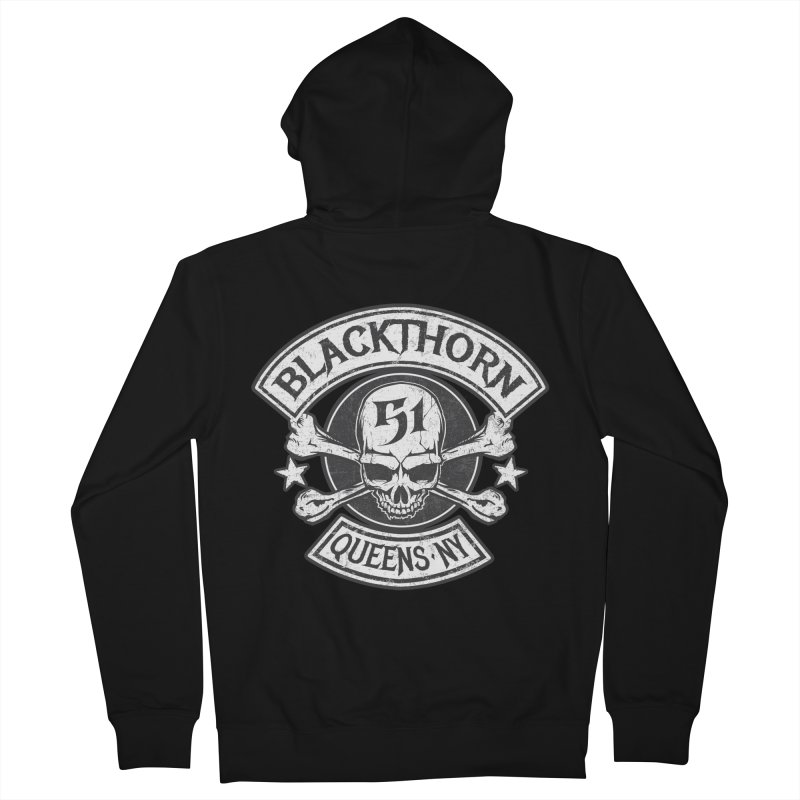 Blackthorn 51 Tee- Black/Grey Women's French Terry Zip-Up Hoody by blackthorn51 Apparel