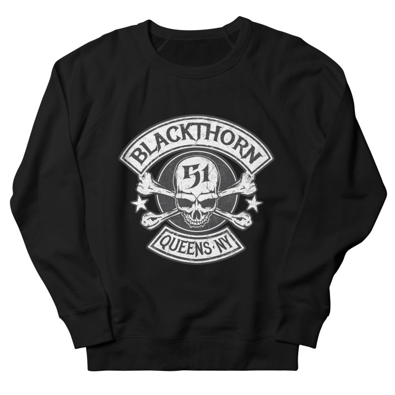 Blackthorn 51 Tee- Black/Grey Women's French Terry Sweatshirt by blackthorn51 Apparel