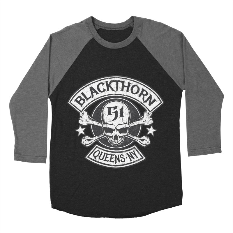 Blackthorn 51 Tee- Black/Grey Men's Baseball Triblend Longsleeve T-Shirt by blackthorn51 Apparel
