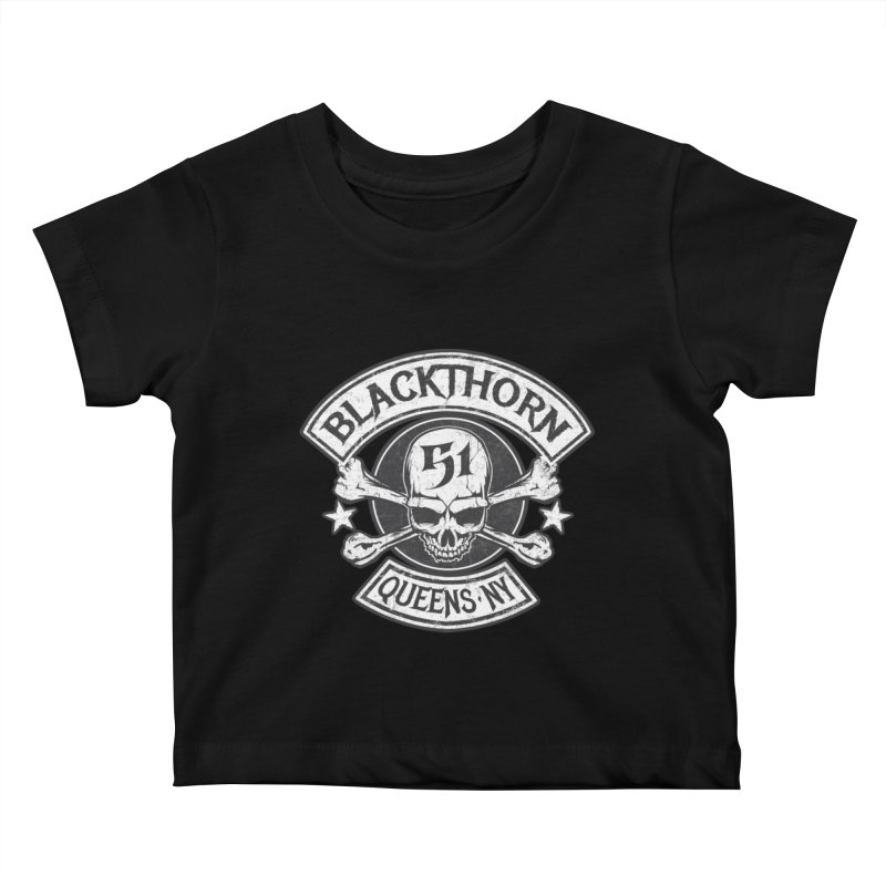 Blackthorn 51 Tee- Black/Grey Kids Baby T-Shirt by blackthorn51 Apparel