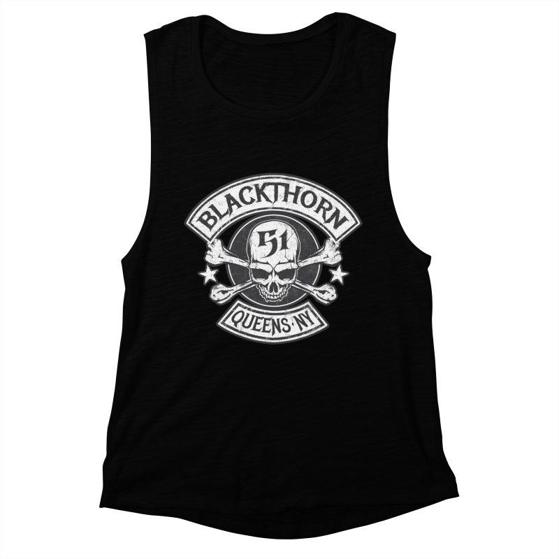 Blackthorn 51 Tee- Black/Grey Women's Muscle Tank by blackthorn51 Apparel