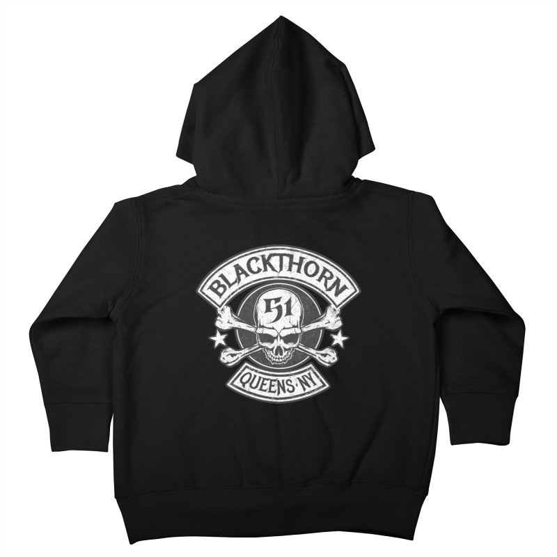 Blackthorn 51 Tee- Black/Grey Kids Toddler Zip-Up Hoody by blackthorn51 Apparel
