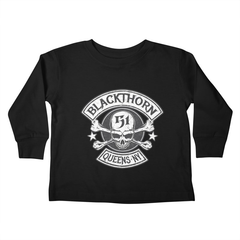 Blackthorn 51 Tee- Black/Grey Kids Toddler Longsleeve T-Shirt by blackthorn51 Apparel