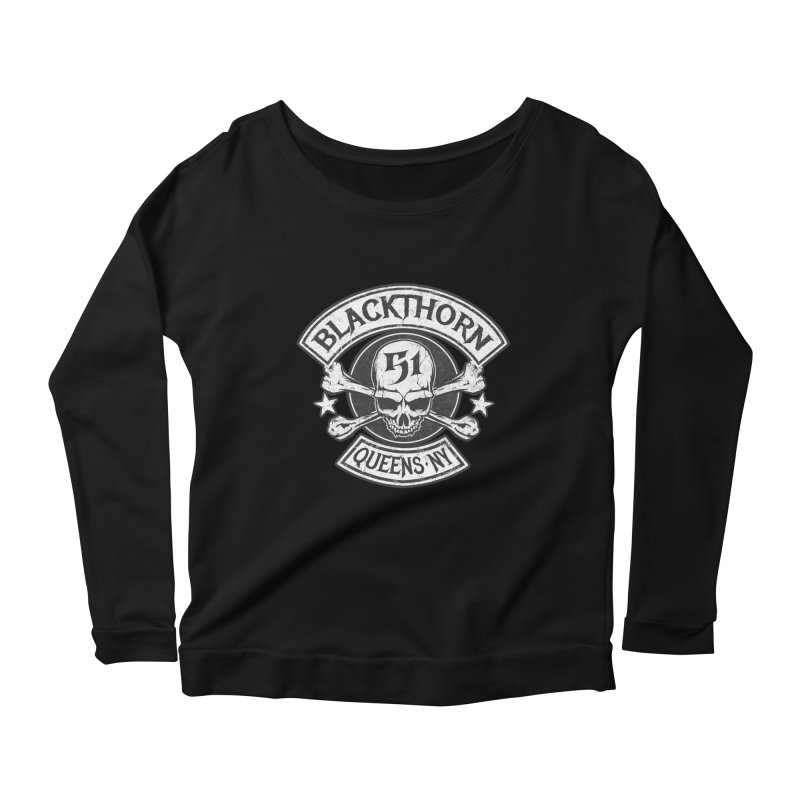 Blackthorn 51 Tee- Black/Grey Women's Longsleeve Scoopneck  by blackthorn51 Apparel