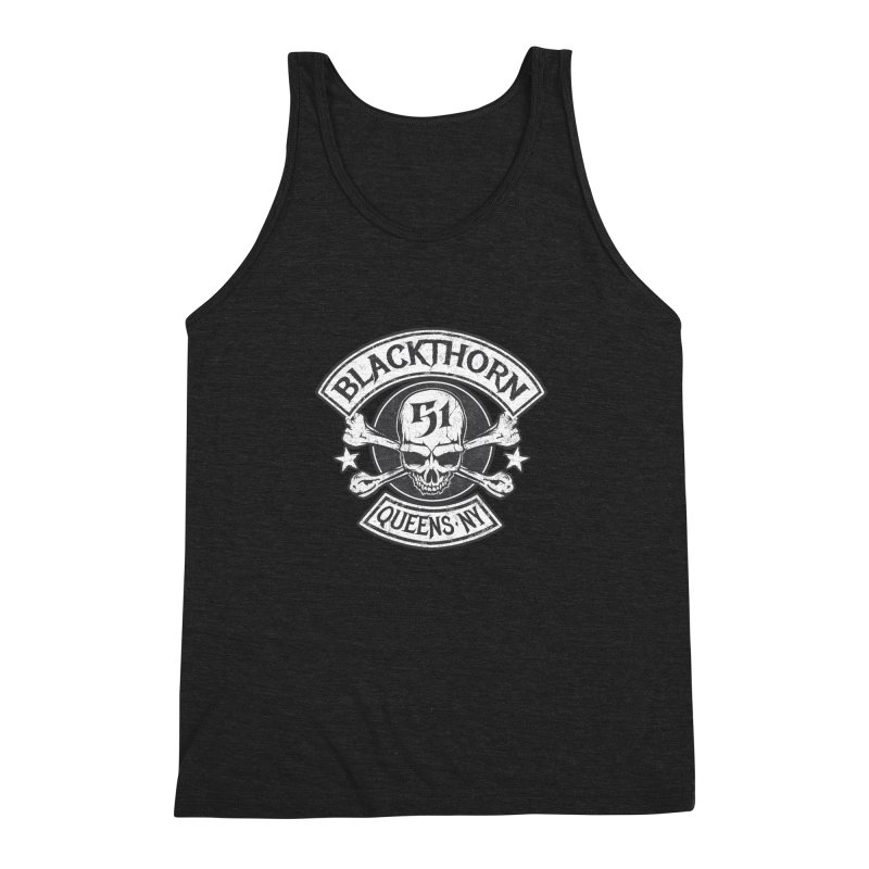 Blackthorn 51 Tee- Black/Grey Men's Triblend Tank by blackthorn51 Apparel