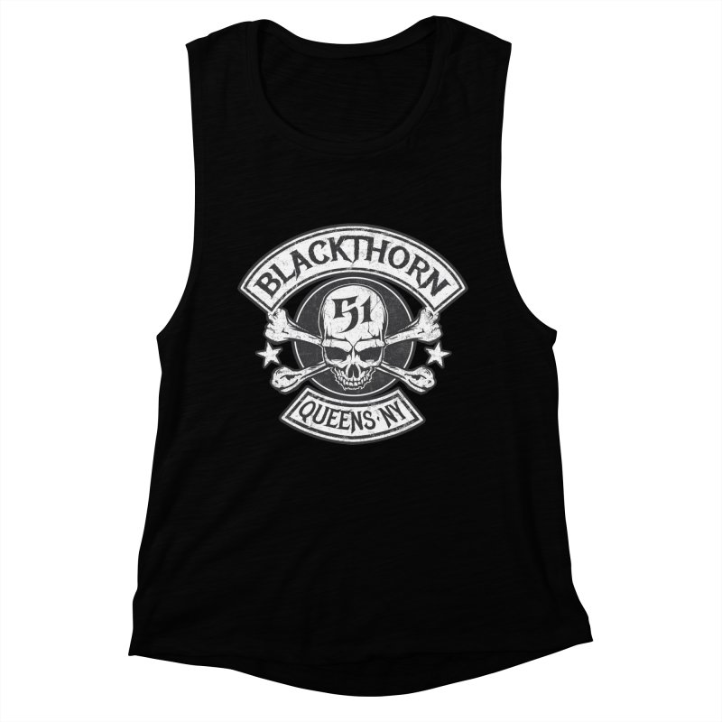Blackthorn 51 Tee- Black/Grey Women's Muscle Tank by blackthorn51 Apparel