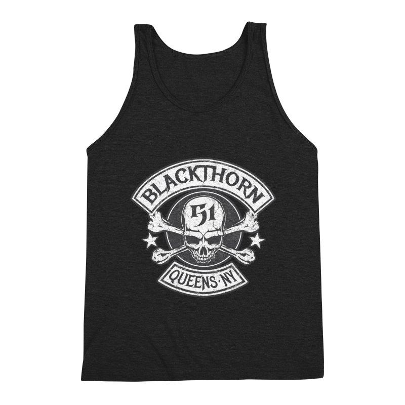 Blackthorn 51 Tee- Black/Grey Men's Triblend Tank by blackthorn51 Apparel