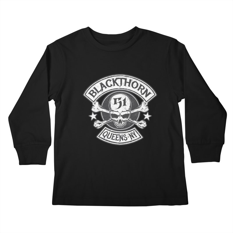 Blackthorn 51 Tee- Black/Grey Kids Longsleeve T-Shirt by blackthorn51 Apparel
