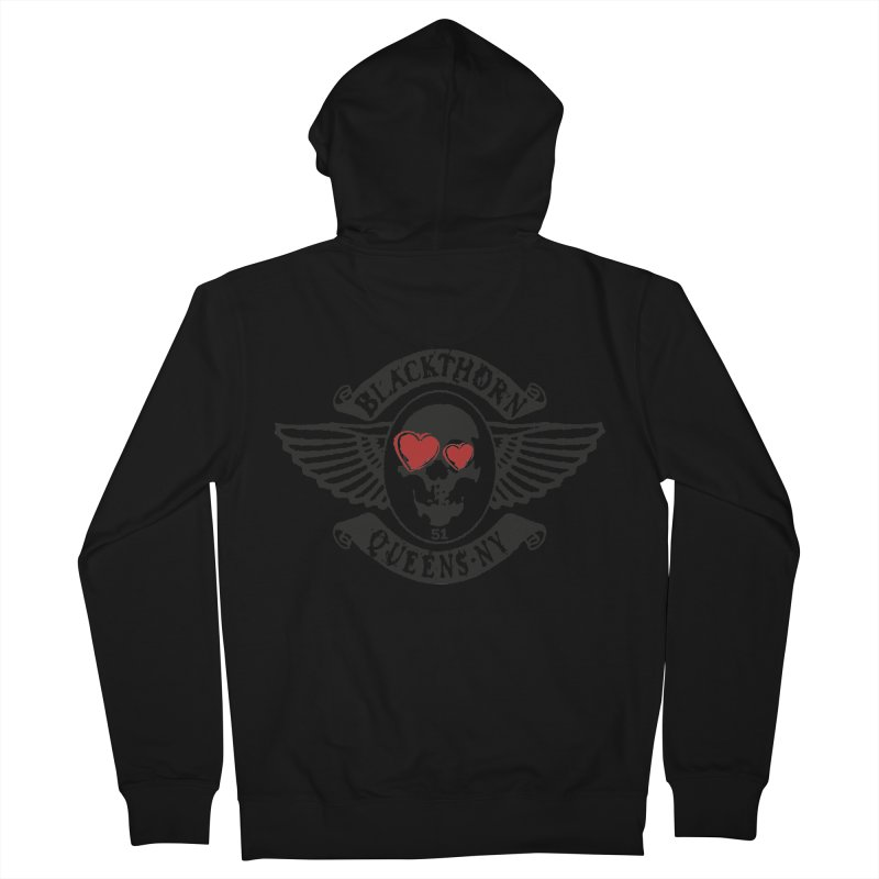 Heart Thorn Men's French Terry Zip-Up Hoody by blackthorn51 Apparel