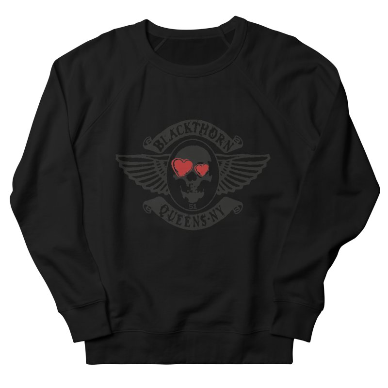 Heart Thorn Women's French Terry Sweatshirt by blackthorn51 Apparel