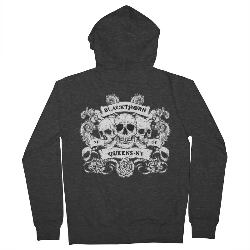 3 skulls Men's Zip-Up Hoody by blackthorn51 Apparel