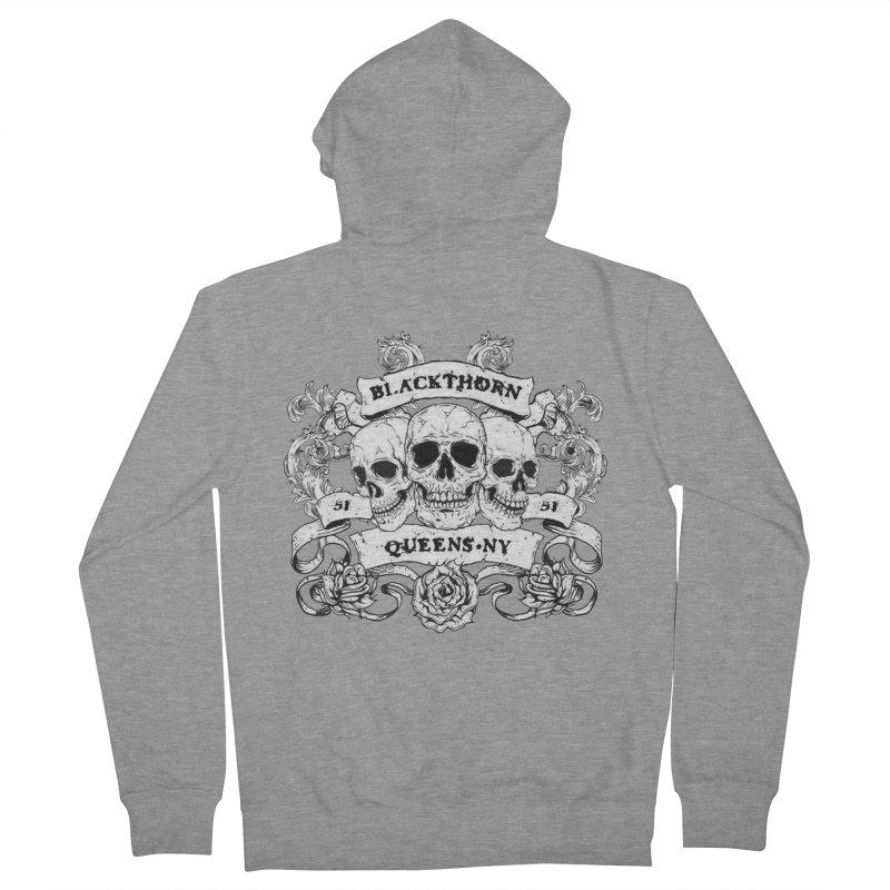 3 skulls Men's French Terry Zip-Up Hoody by blackthorn51 Apparel