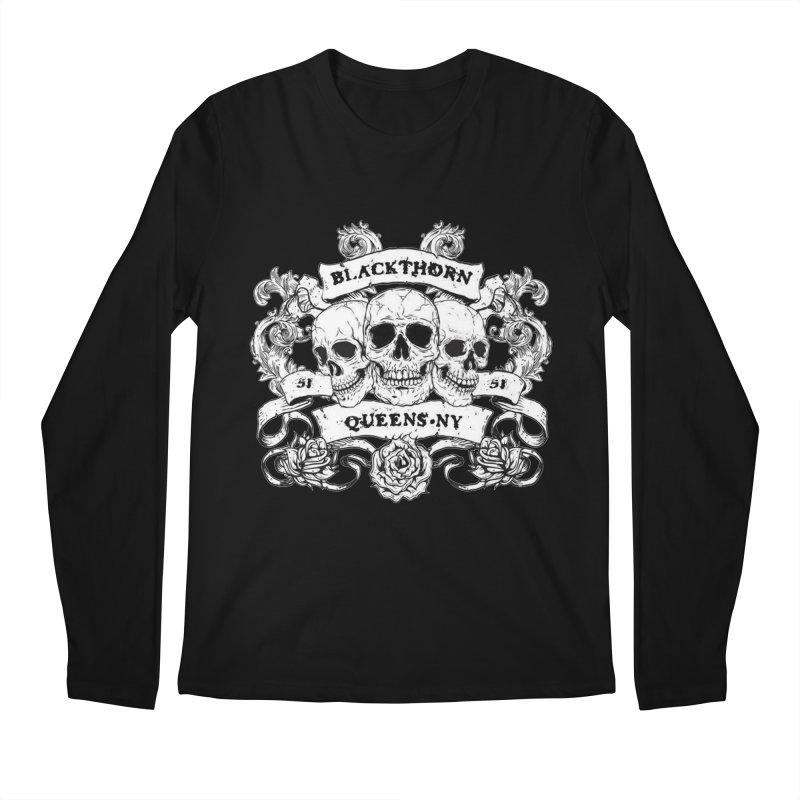 3 skulls Men's Regular Longsleeve T-Shirt by blackthorn51 Apparel