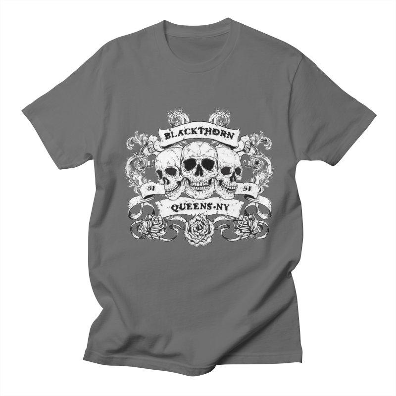 3 skulls Men's T-Shirt by blackthorn51 Apparel