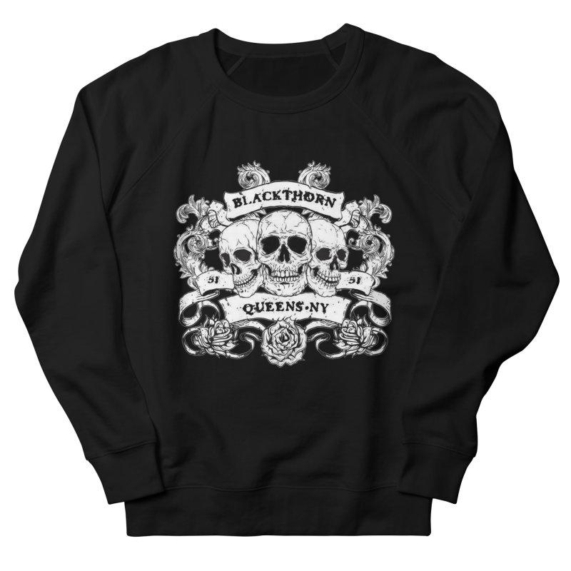 3 skulls Women's French Terry Sweatshirt by blackthorn51 Apparel