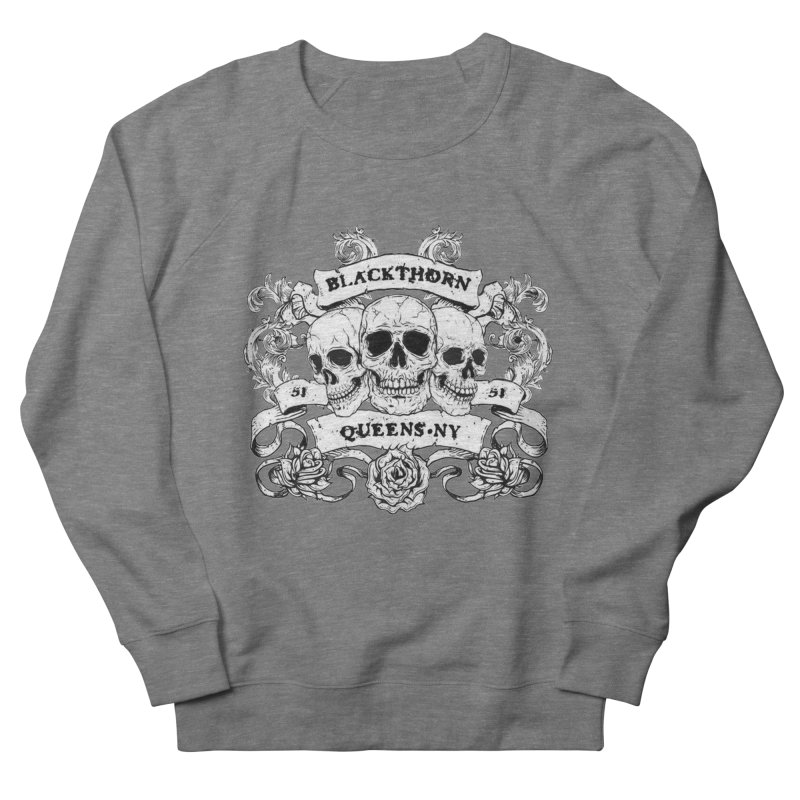 3 skulls Men's French Terry Sweatshirt by blackthorn51 Apparel
